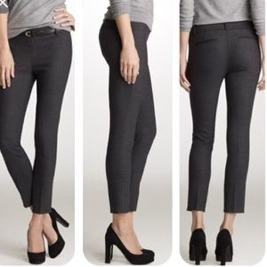 J. Crew Minnie Pant in Bi Stretch Wool Charcoal